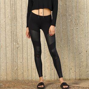 ALO Yoga Pants - ALO Yoga Black Moto Leggings